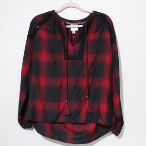 Knox Rose Rouge Red blouse - XS